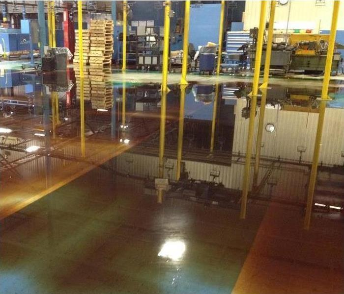 Water Damage – Chicago Industrial Plant Before
